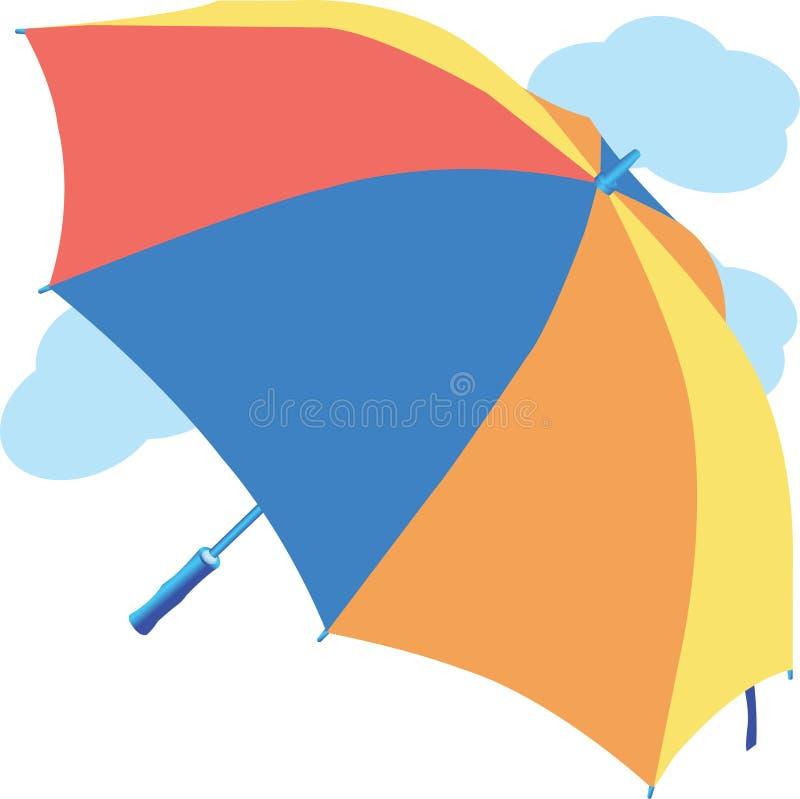 Vatten för regnig dag för moln för säsong för regn för paraply för vatten för regnig dag för moln för paraplyregnsäsong vektor illustrationer