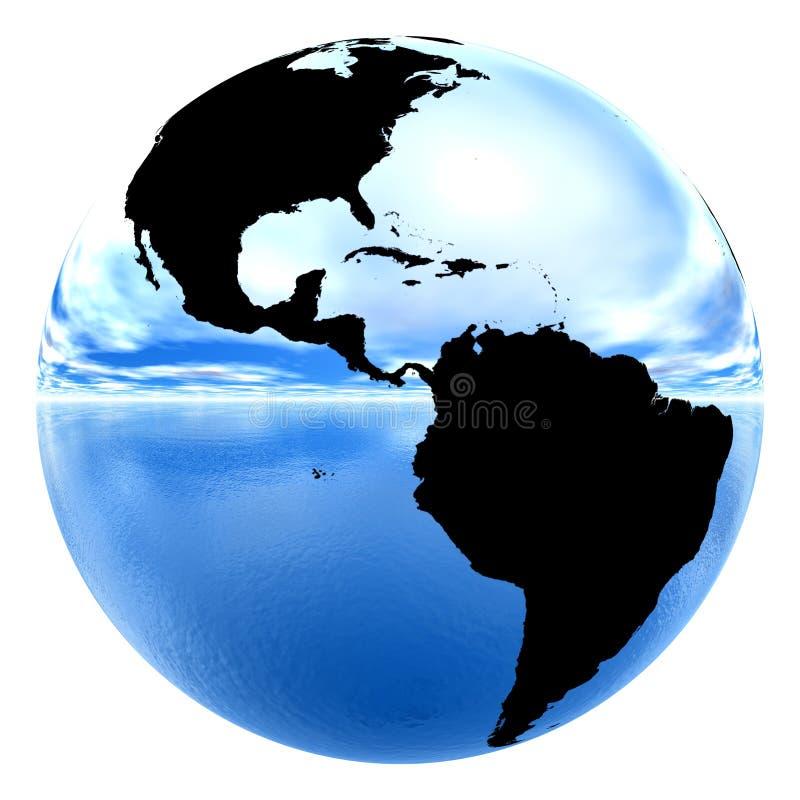 vatten för sky för kromjord reflekterande royaltyfri illustrationer