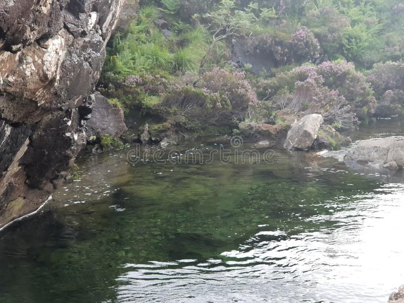 Vatten i sten sjön arkivbild