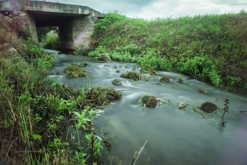 Vatten i tid royaltyfria foton