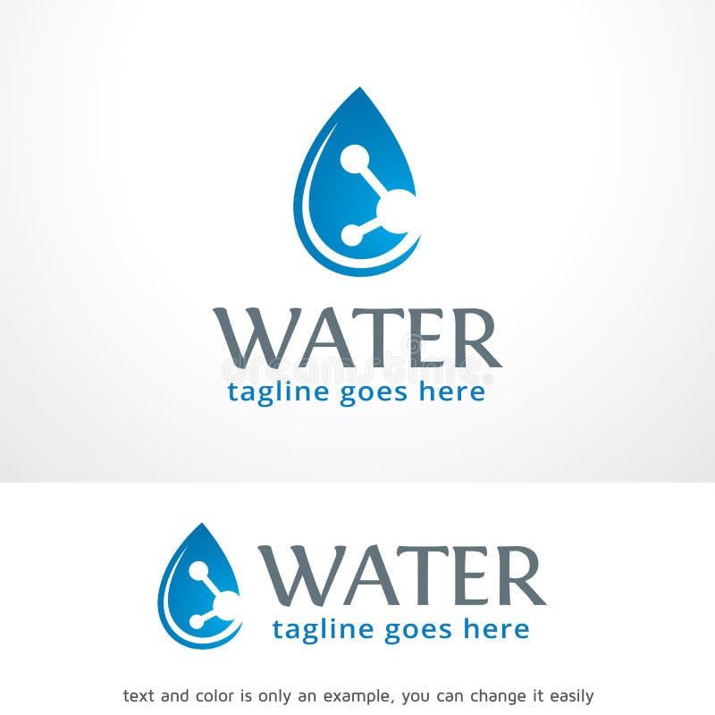 Vatten Logo Template Design Vector royaltyfri illustrationer
