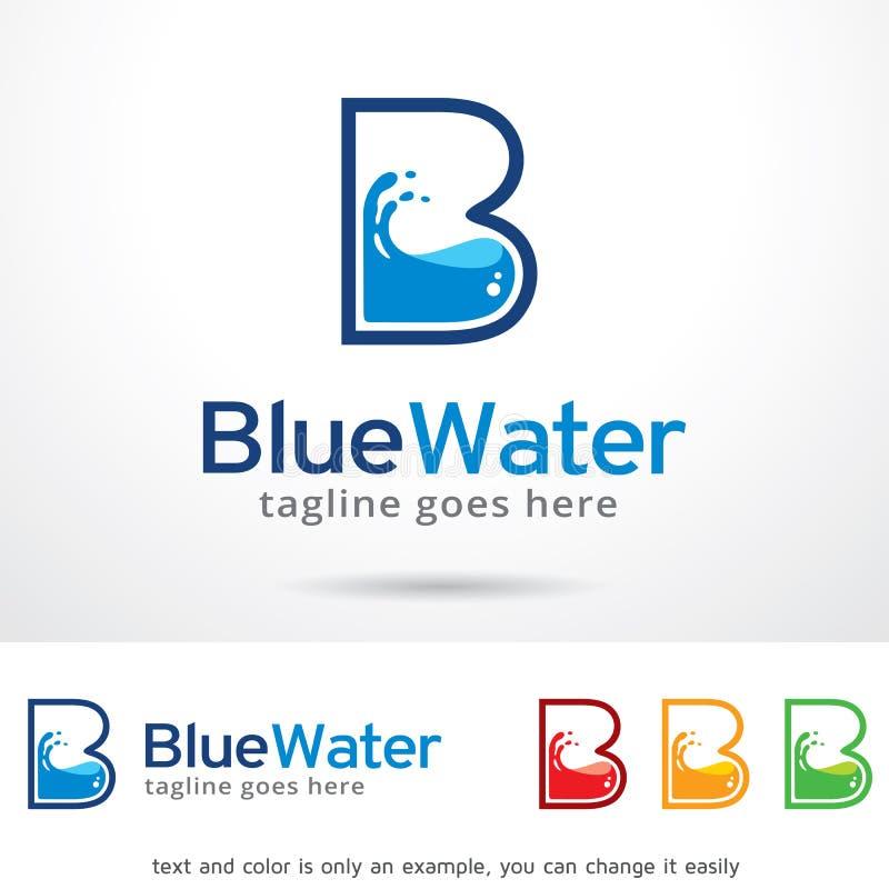 Vatten Logo Template Design Vector för bokstav B royaltyfri illustrationer