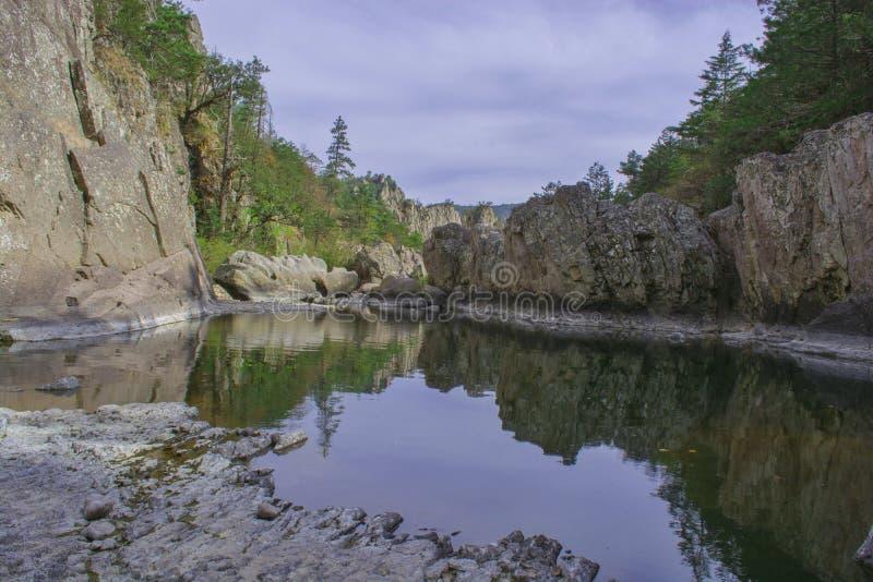 Vatten på stenar royaltyfri bild
