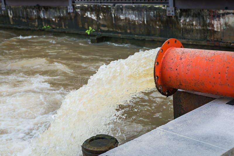 Vattenavrinningflod royaltyfri foto