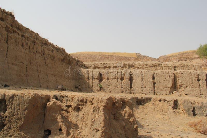 Vattenbehållare av den Harappan civilisationplatsen royaltyfri fotografi