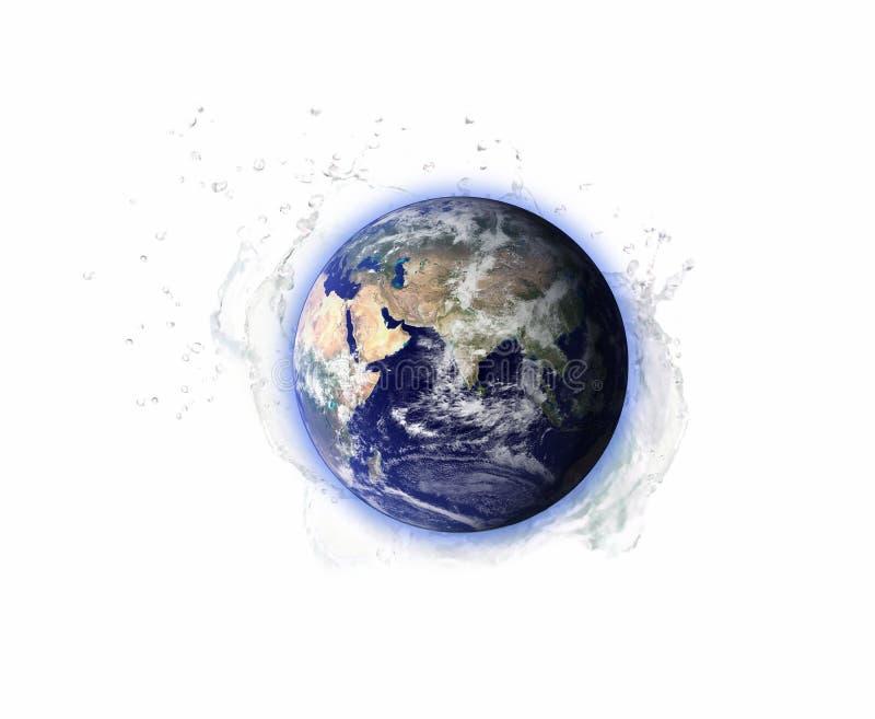 Vattenbesparing för miljöjord av beståndsdelar av denna bild som möbleras av NASA arkivbilder
