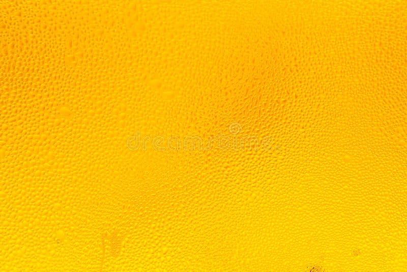 Vattendroppar på ett glas öl Droplets på nydränkt öl, droppar på nypsade ölbakgrund och textur royaltyfri bild