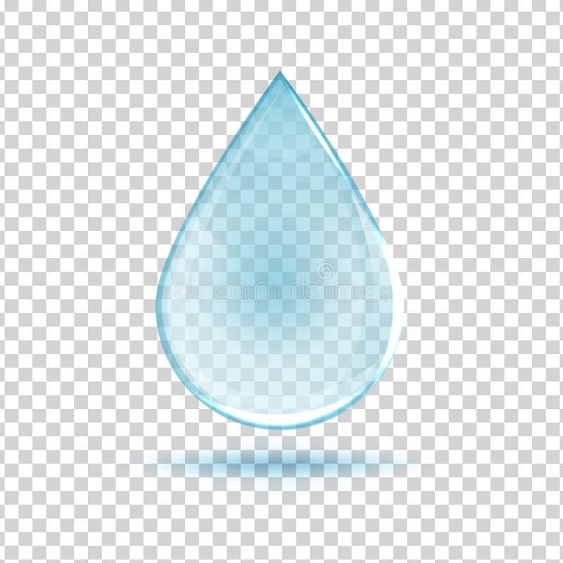 Vattendroppbild royaltyfri illustrationer