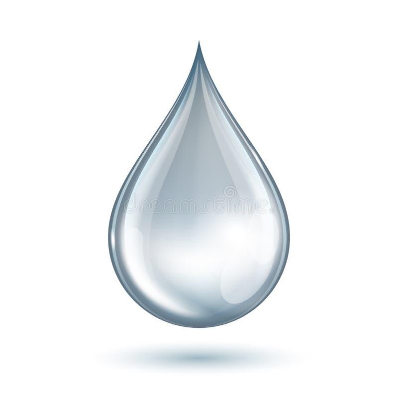 Vattendroppe royaltyfri illustrationer