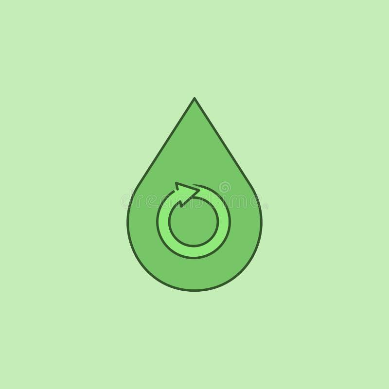 Vattendroppe - förnybar begreppssymbol royaltyfri illustrationer