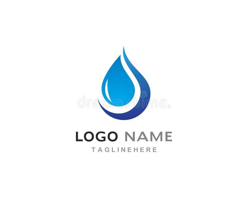 Vattendroppe Logo Template vektor illustrationer