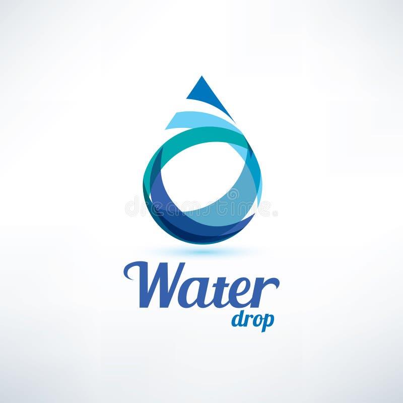 Vattendroppe Logo Template royaltyfri illustrationer