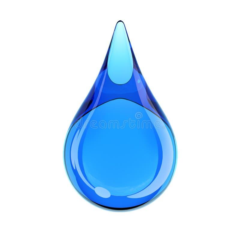 Vattendroppe på den vita tolkningen för bakgrund 3d stock illustrationer
