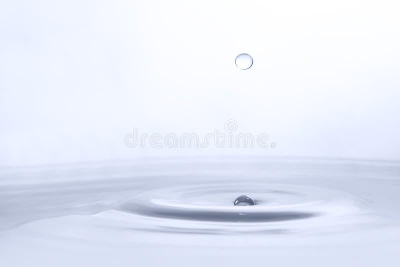 Vattendroppe på vattenbakgrund fotografering för bildbyråer
