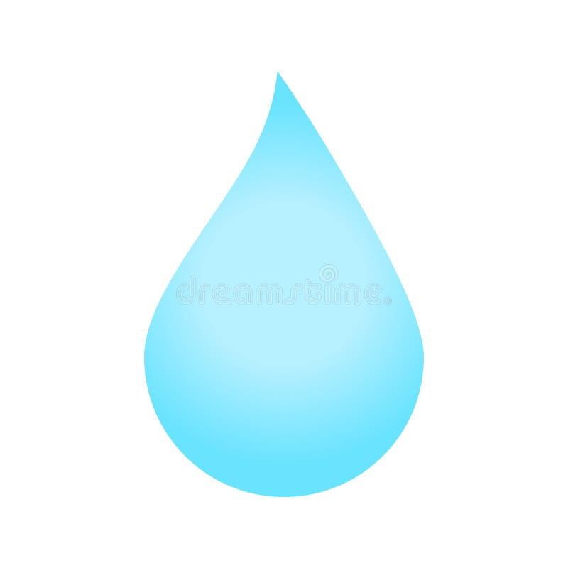 Vattendroppsymbol royaltyfri illustrationer