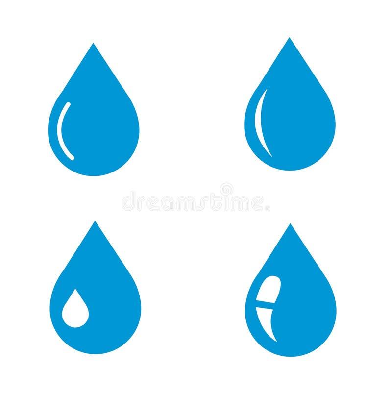 Vattendroppsymbol stock illustrationer