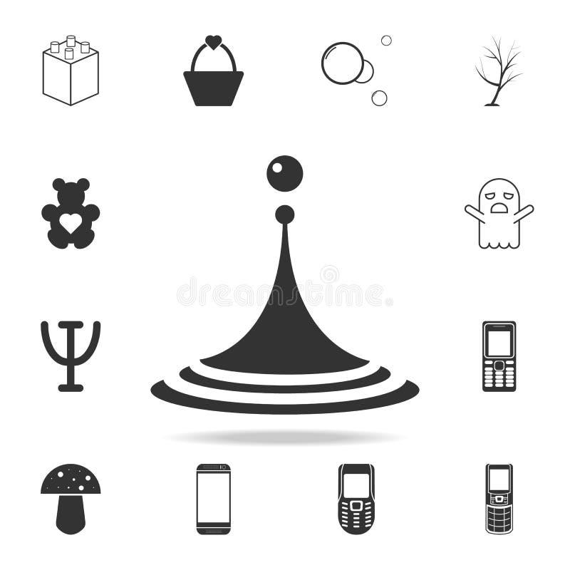 Vattendroppsymbol Detaljerad uppsättning av rengöringsduksymboler och tecken Högvärdig grafisk design En av samlingssymbolerna fö royaltyfri illustrationer