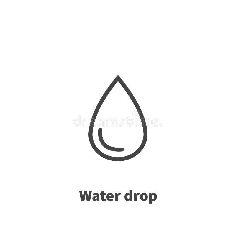 Vattendroppsymbol, vektorsymbol vektor illustrationer
