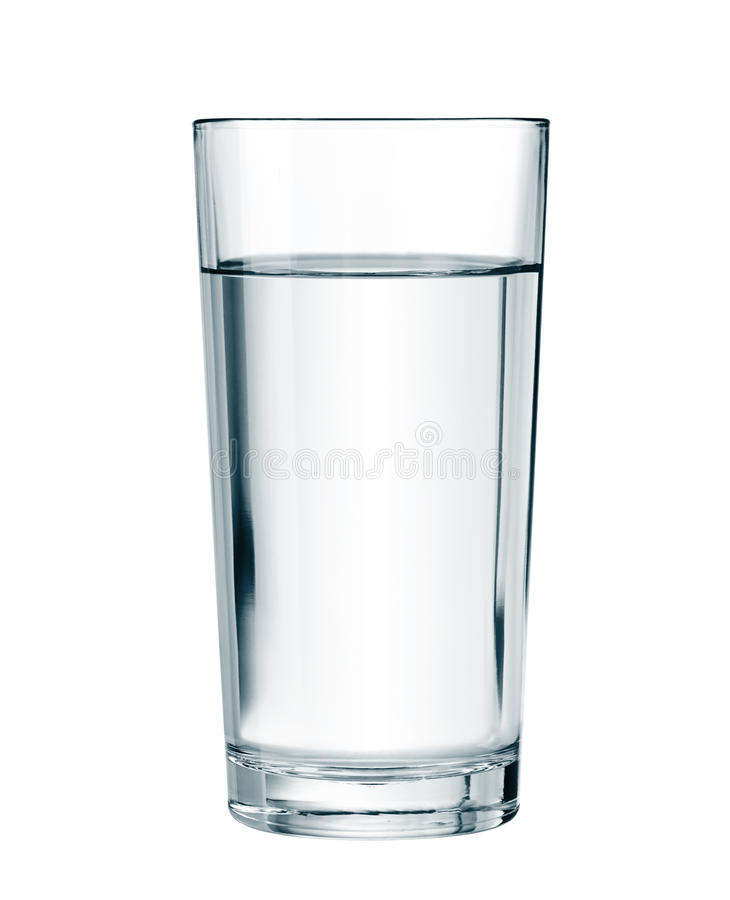 Vattenexponeringsglas som isoleras med den snabba banan royaltyfria bilder
