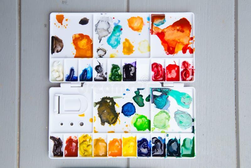 vattenfärg arkivbild