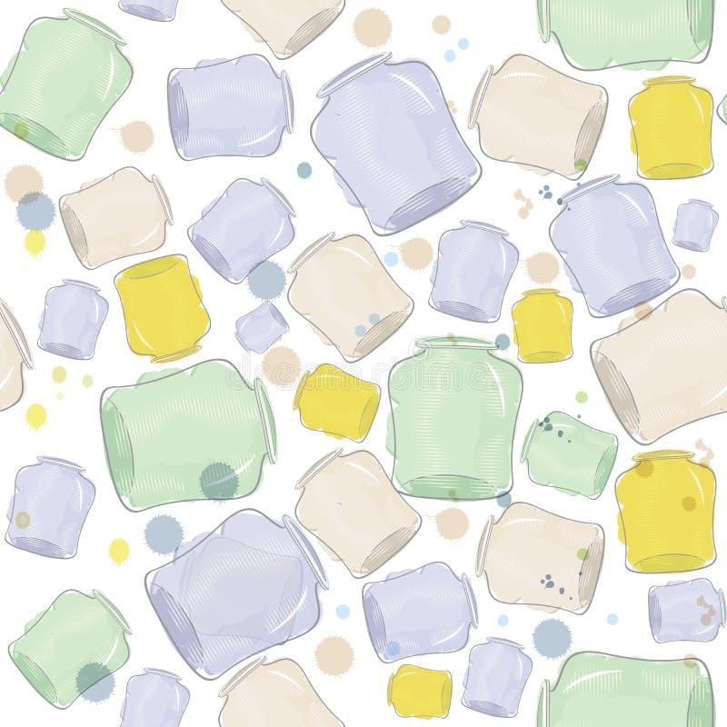 Vattenfärg skakar den seamless vektorn royaltyfri illustrationer