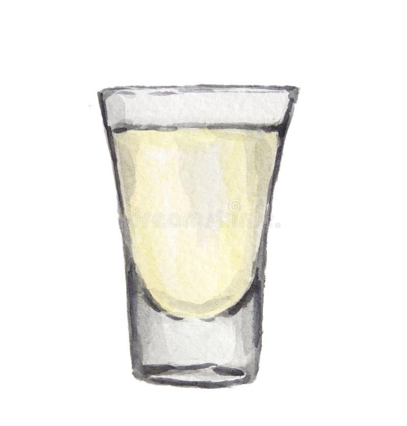 Vattenfärgalkoholexponeringsglas vektor illustrationer