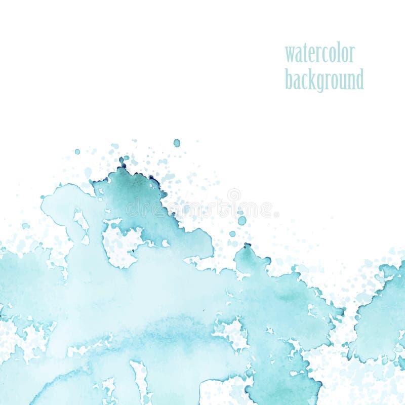 Vattenfärgbakgrund för orientering Vektorblåttfärgstänk vektor illustrationer