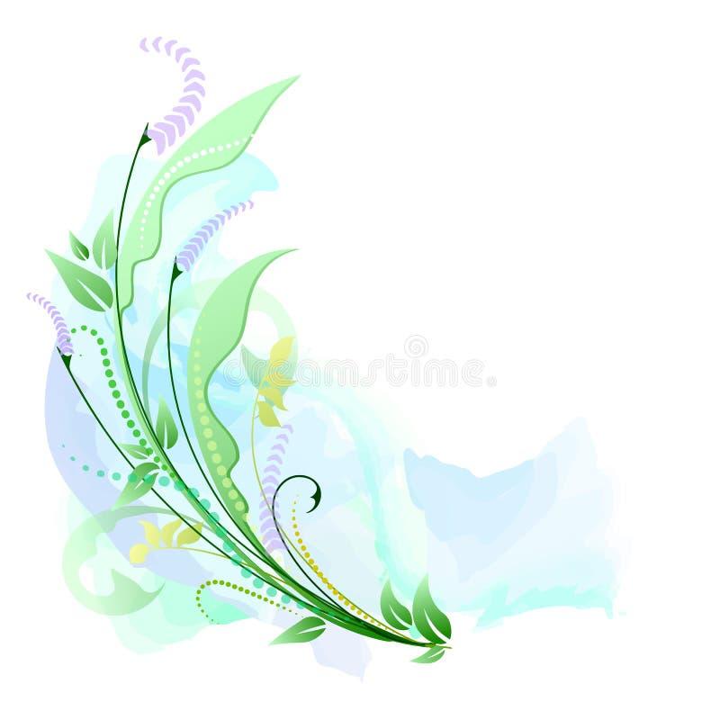 Vattenfärgbakgrund med blom- royaltyfri illustrationer