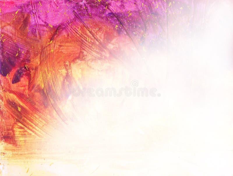 Vattenfärgbakgrund med textur. Målarfärgfläckar, plaskar, staiin stock illustrationer