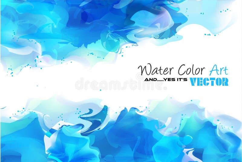 Vattenfärgbakgrund och ja det är vektorn! vektor illustrationer