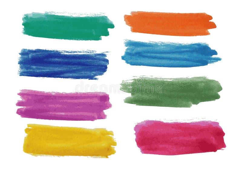Vattenfärgbaneruppsättning Arkivbild