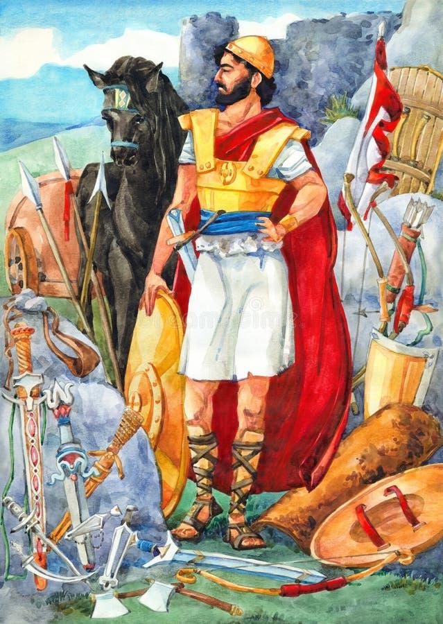 Vattenfärgen skissar av serie royaltyfri illustrationer