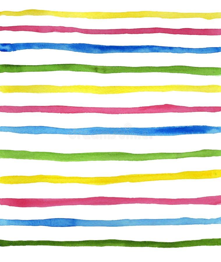 Vattenfärgfärgremsor vektor illustrationer