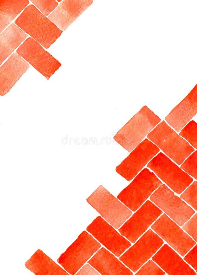 Vattenfärggeometrycmodell stock illustrationer