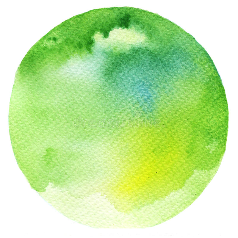 Vattenfärggräsplancirkel stock illustrationer