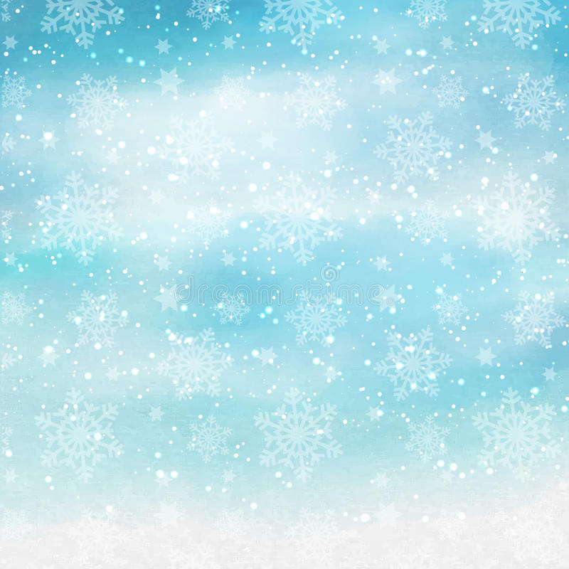 Vattenfärgjulsnöflingor royaltyfri illustrationer