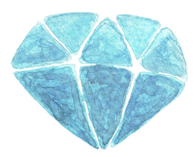Vattenfärgkristall royaltyfri fotografi