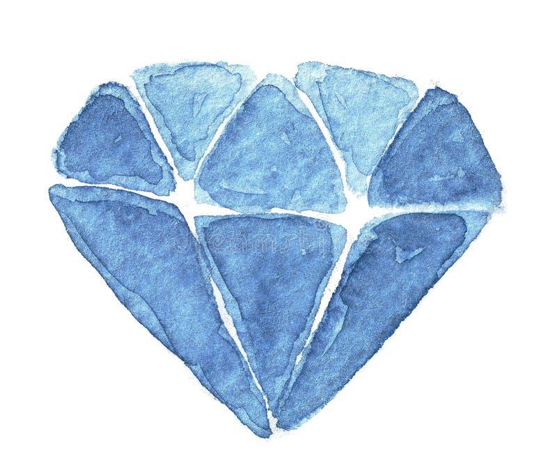 Vattenfärgkristall royaltyfri bild