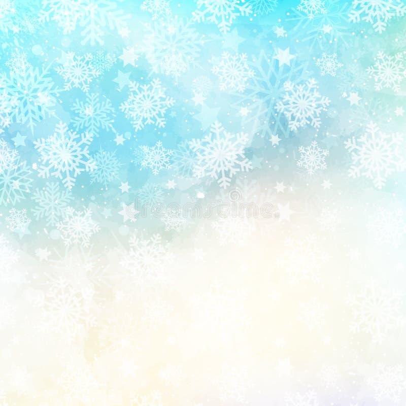 Vattenfärgsnöflingabakgrund vektor illustrationer