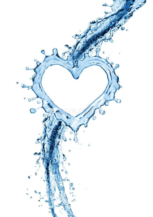 Vattenfärgstänk i form av en hjärta vektor illustrationer