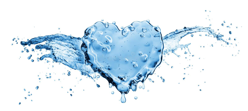 Vattenfärgstänk i form av en hjärta stock illustrationer