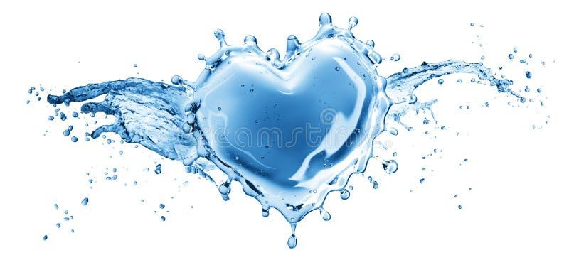 Vattenfärgstänk i form av en hjärta royaltyfri illustrationer