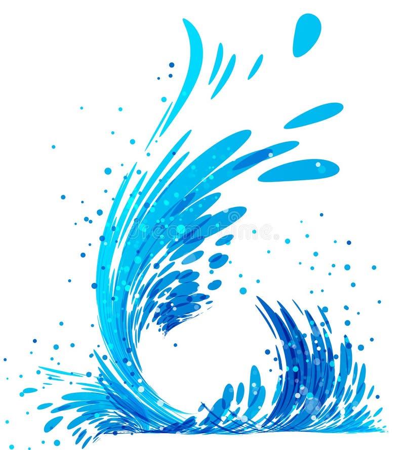 Vattenfärgstänk på vit stock illustrationer