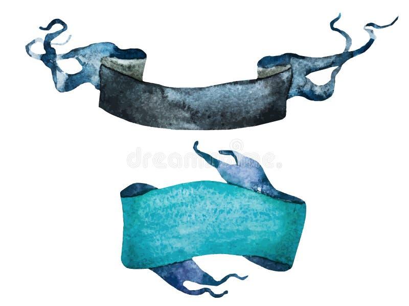 Vattenfärgtappningband stock illustrationer