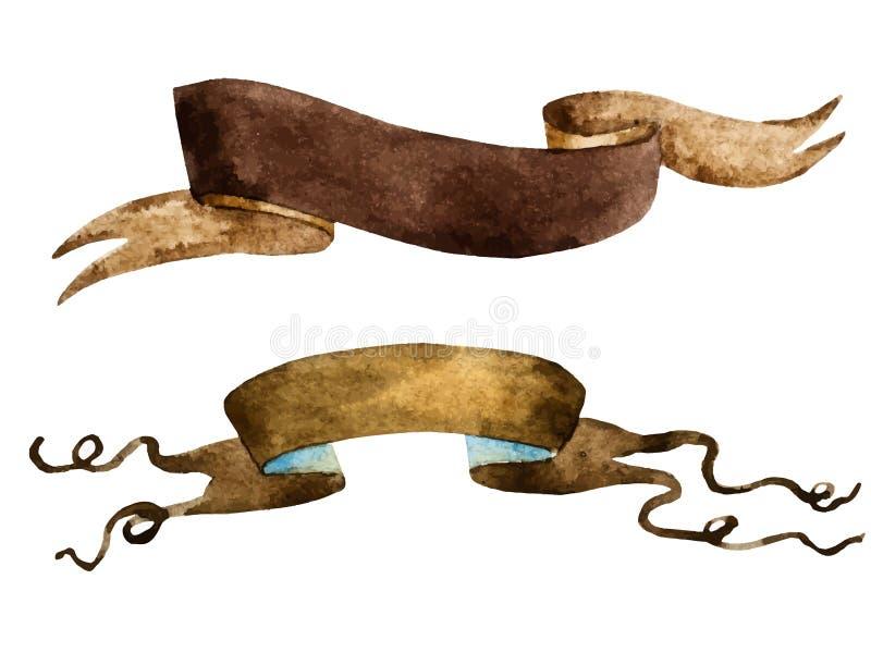 Vattenfärgtappningband royaltyfri illustrationer