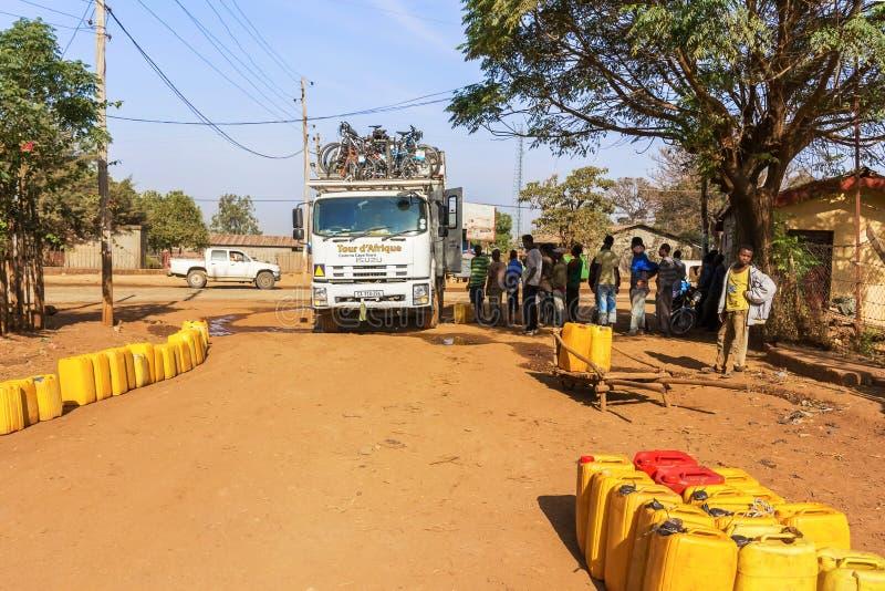 Vattenförsörjning i Etiopien fotografering för bildbyråer