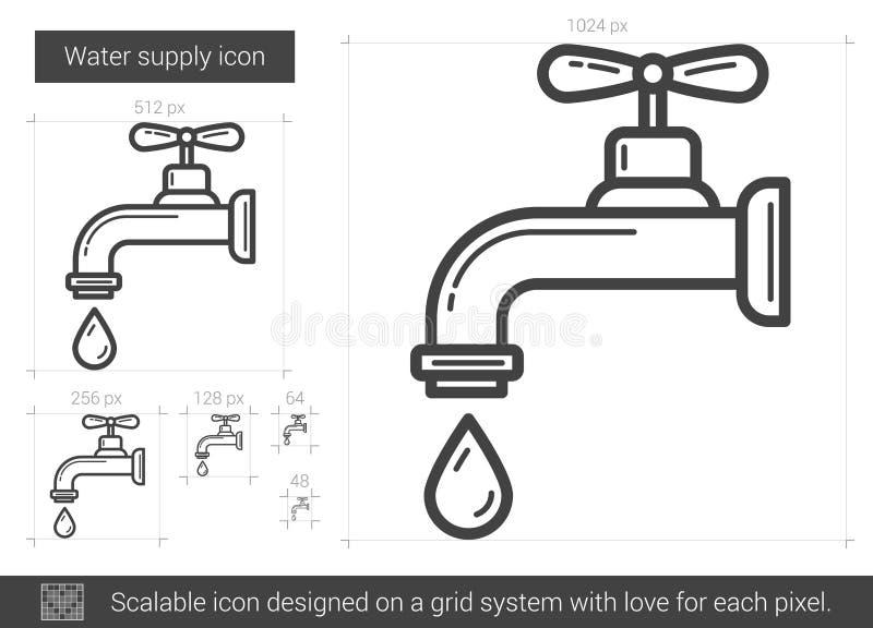 Vattenförsörjninglinje symbol royaltyfri illustrationer