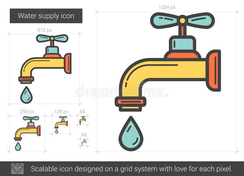 Vattenförsörjninglinje symbol vektor illustrationer