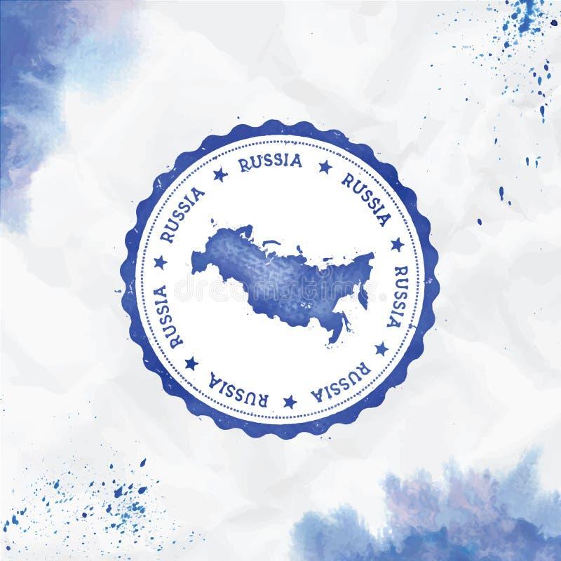 Vattenf?rgen f?r rysk federation rundar gummist?mpeln vektor illustrationer
