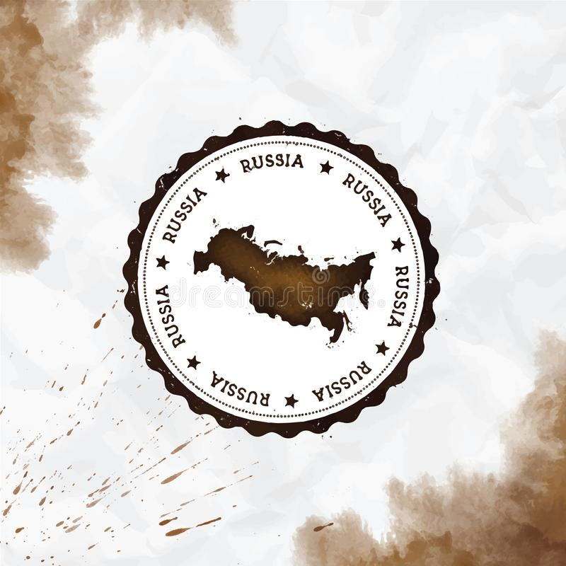 Vattenf?rgen f?r rysk federation rundar gummist?mpeln royaltyfri illustrationer